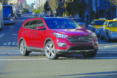 Santa Fe's V6 tow rating of up to 5,000 pounds is perfect for hauling small boats and other weekend toys. (Courtesy of Hyundai Motor America)
