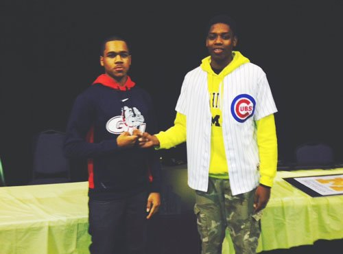 """Two local student athletes who have played together since the second grade decided to sign their """"National Letter of Intent"""" ..."""