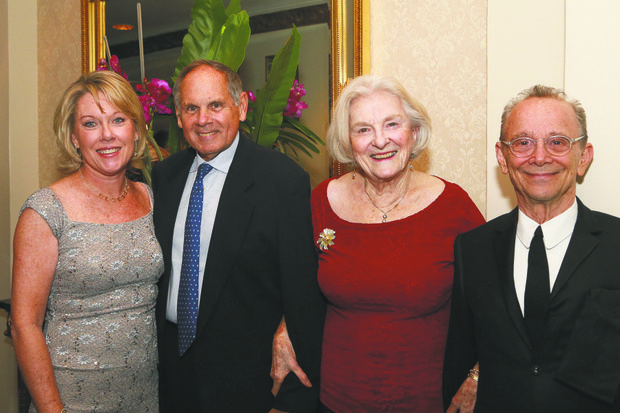 L to R: Mary Ann Christopher, president and CEO of the Visiting Nurse Service of New York (VNSNY), and VNSNY Lillian D. Wald Award honorees Frank J. Branchini, chairman and CEO at Emblem-Health Inc; Claire M. Fagin, registered nurse and member of the board of VNSNY; and actor Joel Grey