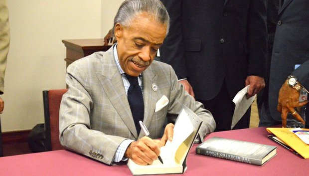 Rev. Al Sharpton appeared at Friendship West Baptist Church to announce the establishment of a National Action Network chapter in Dallas and to sign his latest book, The Rejected Stone.