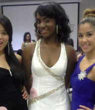 Contestants in the 2014 Miss Teen Baltimore/Washington Pageant Ashelle Henry (middle) with Sarah Smith and Angelalucy Devanadera.
