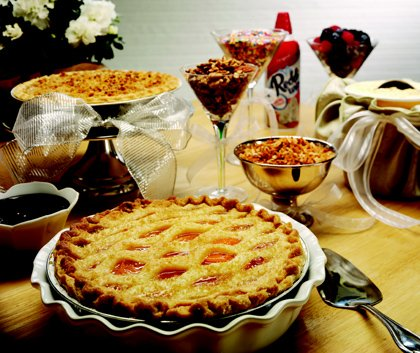 A pie bar is a wonderful way to display holiday desserts