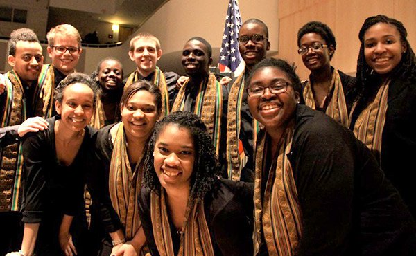 The Kuumba Singers were formed at Harvard University in 1970. The choir performs songs that celebrate the richness of the music, dance and poetry of black culture and history.