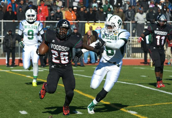 H.D. Woodson defeated Wilson, 25-13, in the 44th Annual Turkey Bowl, a Thanksgiving tradition, in Southeast on Thursday, Nov. 28.
