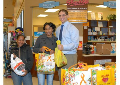 Klein's Family Markets, which owns and operates the ShopRite of Parkville distributed 100 Thanksgiving dinners to those in need in ...