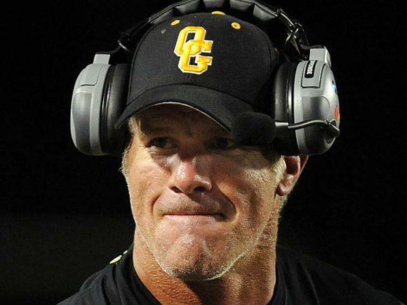 Just like he made records on the NFL field, Brett Favre is doing the same thing on the high school ...