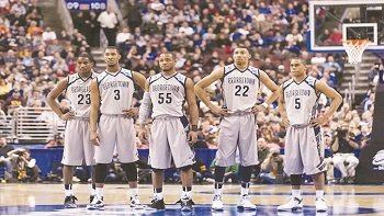 It didn't take long for the Georgetown University men's basketball team to get used to some good old fashion home ...
