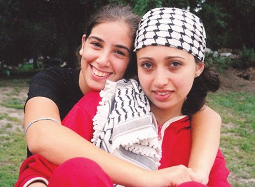 Adi (Israeli) and Rana (Palestinian) build bridges for peace in the documentary 'My So Called Enemy.'