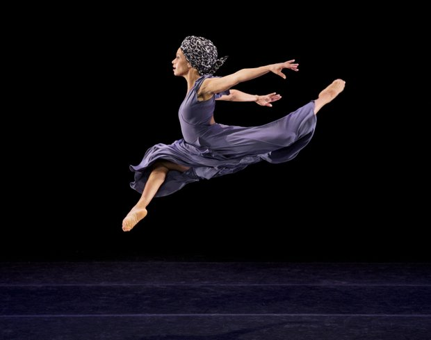 "Alvin Ailey American Dance Theater's Belen Pereyra in Ronald K. Brown's ""Four Corners"""