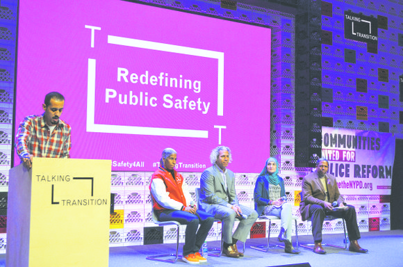 Communities United for Police Reform hosted an open dialogue at the Talking Transition tent in Chelsea on the future of ...