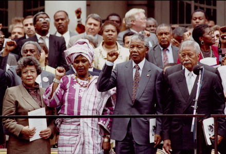 Nelson Mandela at City Hall