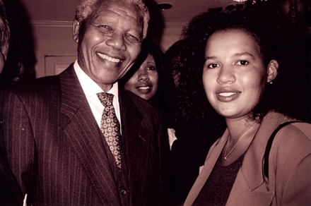 Nelson Mandela and Amsterdam News Publisher and Editor-in-Chief, Elinor Tatum