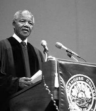 Nelson Mandela visited Morehouse College in Atlanta, GA, June 27, 1990.