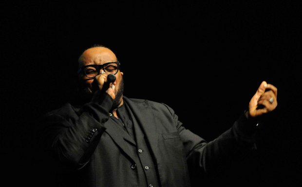 Gospel singer Marvin Sapp performs at the Evangel Cathedral's Christmas Celebration 2013 in Upper Marlboro, Md., on Saturday, Dec. 7.