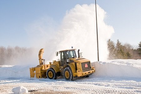 Give snow plows plenty of space and never pass them on the road.