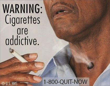 the advertising of the devastating effects of cigarettes and tabacco Big tobacco companies exploited unique facets of black culture to push  about  the negative health effects of smoking in ads, but black media.