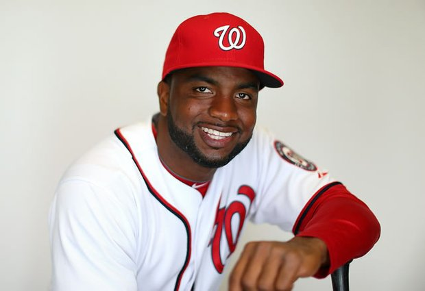 """Washington Nationals star Denard Span helped the team kick off """"A Week of Giving"""" by addressing young people attending the Nationals Youth Baseball Academy on Monday, Dec. 9. (Courtesy photo)"""