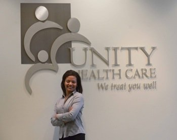 Keisha Robinson, a doctor and regional director of medical education for Unity Health Care, Inc., in Southeast, remains conscious of ...