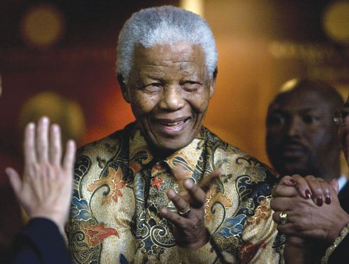 Reknowned civil rights leader, Nelson Mandela