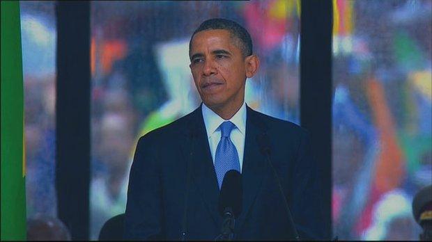 Obama, Mandela Funeral
