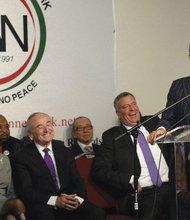 Rev. Al Sharpton speaks at the National Action Network's memorial for Nelson Mandela