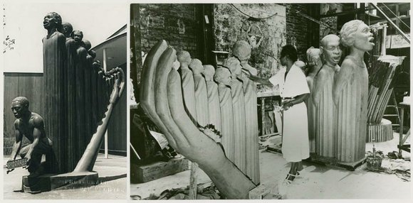Augusta Savage, a renowned sculptor