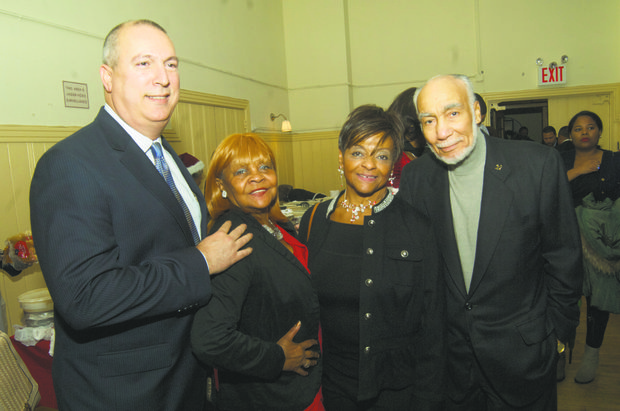 L to R: Adam Clayton Powell IV, Maxine M. McCrey, Council Member Inez Dickens and Basil Paterson