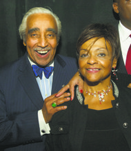 Rep. Charles Rangel with Council Member Inez Dickens