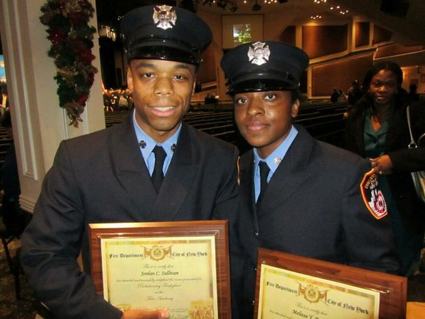 New FDNY recruits Jordan Sullivan and Melissa Bennett