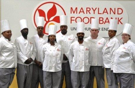 Graduates from the Maryland Food Bank's culinary training program include: Brandy Brown, Teneisha Brown, Briana Coley, Kenneth Dunn, Marc Freeman, Donaha Gervin, Erica Graham, Daniel Johnson, Andrea Kelly, Shanel Robinson, Paul Royal and Jasmine Shaw.
