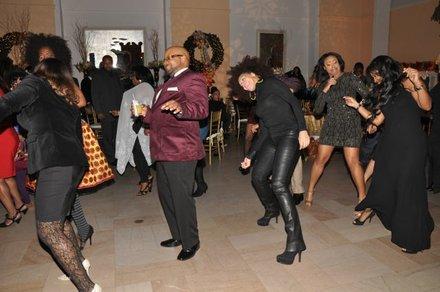Cha Cha Sliding on the dance floor.