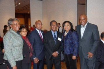 Eugene G. Newry, Bahamas Ambassador to the United States, his wife, Francoise, and Paulette Zonicle, the Bahamas Consul General to ...