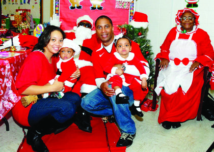 Shawn and Tonya Sanchez along with their children, Shawn II, and Cataleya spent time with Santa and Ms. Claus at the 'Breakfast with Santa' event held at the Metropolitan United Methodist Church of Severn on Saturday, December 14, 2013.