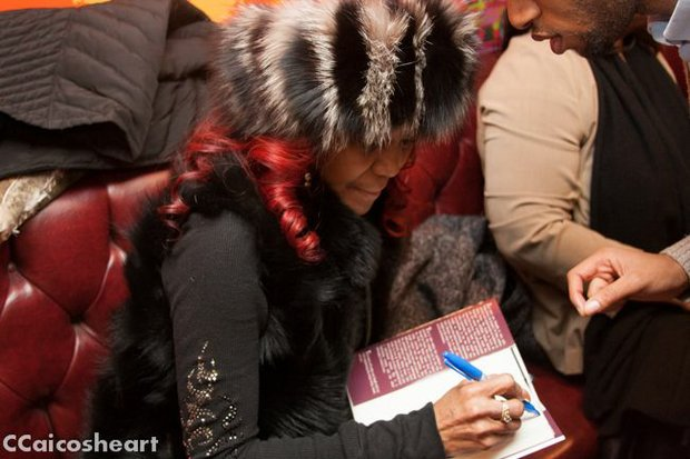 Mama Jones signing books