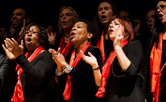 Glorifying God as well as the power of the African American gospel music tradition, the New England Conservatory Millennium Choir ...