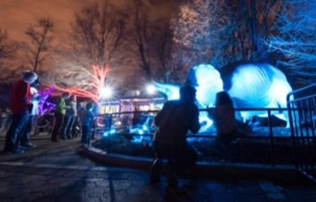 Thousands turned out for the annual ZooLights festivities on Saturday, Dec. 21. The light show attracts more than 100,000 visitors to the National Zoo each year.
