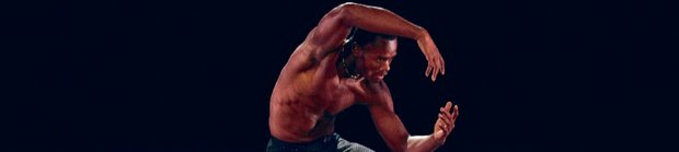 Alvin Ailey American Dance Theater's Jamar Roberts in Aszure Barton's LIFT. (Paul Kolnik photo)