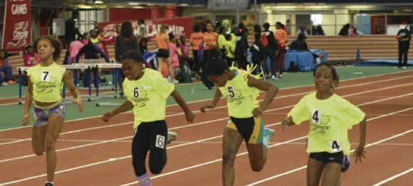 Some 10,000 preteen elementary school girls and junior high and senior high ladies shared the best indoor track in the ...