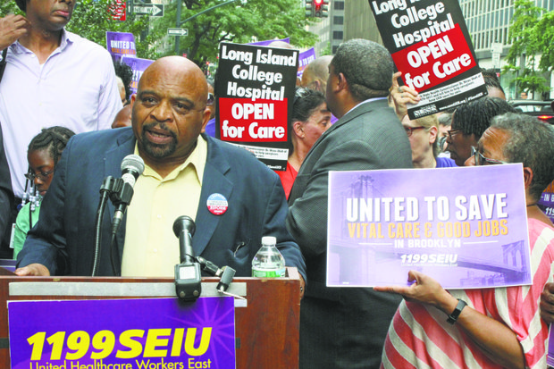 1199 SEIU President, George Gresham, speaks at LICH Protest