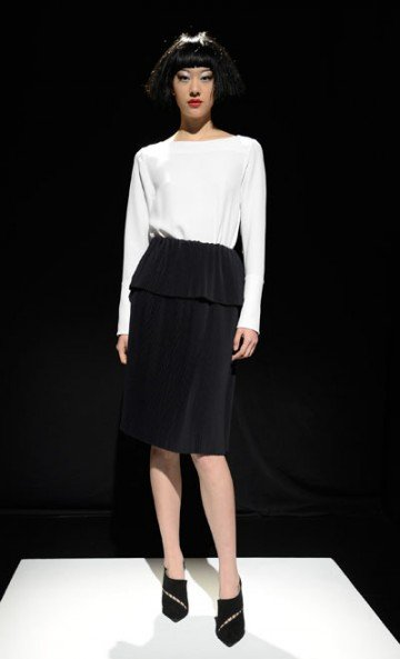 "For fall/winter 2013, the look is chic, clean-cut, classic and shapely. With ambitions to have a ""global impact,"" Nina Skarra ..."