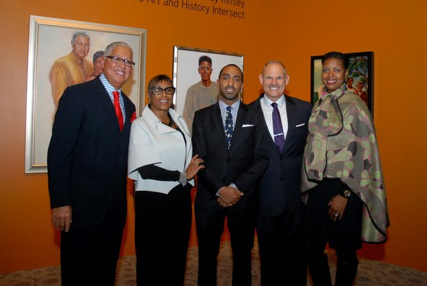 (Left-right): Bernard and Shirley Kinsey, son Khalil with Andrew M. Bertamini, Regional Vice President, Wells Fargo and Lisa Frison, Vice President of African American Segment for Wells Fargo