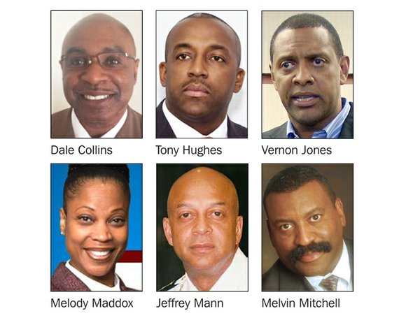 Former DeKalb CEO Vernon Jones and five others are already in line to succeed DeKalb County Sheriff Thomas Brown.