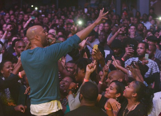 Rapper and actor Common performs to a sold-out crowd at the Filmore in Silver Spring, Md., on Friday, Dec. 28.
