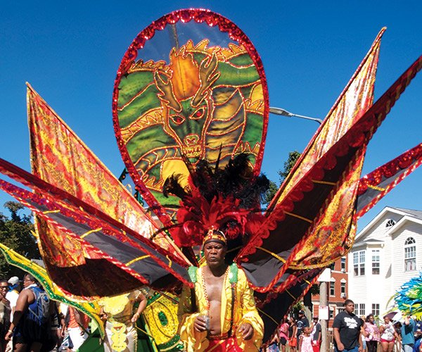 "Selwyn Malcolm's costume at the Caribbean Festival on Aug. 24 portrays a fierce mare in keeping with the Trinidad and Tobago Social Club's theme for 2013, ""Nightmares."" See more pictures from the festival on page 20."