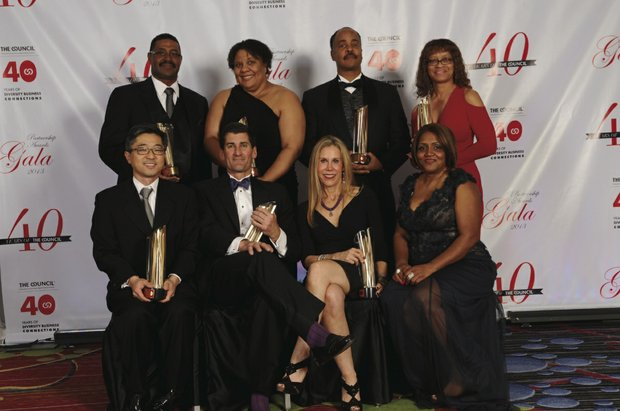 Top corporations and minority businesses honored at 40th Partnership Awards Gala.