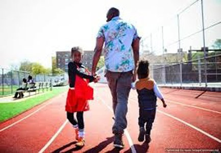 Nearly half of black fathers living apart from their young children say they played with them at least several times ...