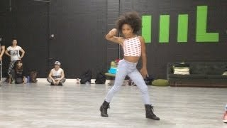 "According to thegrio.com, Charlize Glass is killing it on Youtube dancing to Beyonce's ""Yonce'."" The 12-year-old is a part of ..."