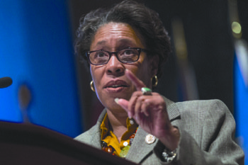 Rep. Marcia Fudge (D-Ohio), who chairs the Congressional Black Caucus, praised Defense Secretary Chuck Hagel Tuesday for addressing an Army ...