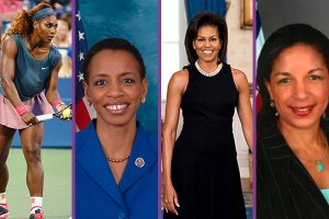 Serena Williams, Donna Edwards, Michelle Obama, Susan Rice