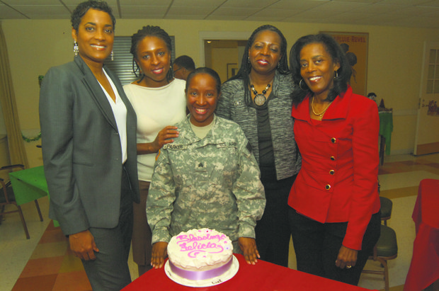 Sgt. Felicia Parker with the Brooklyn Chapter of the Links Inc.